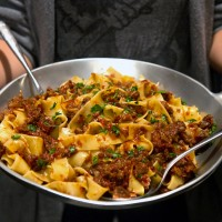 Rustic duck ragu