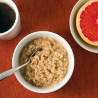 Peanut butter and maple syrup oatmeal