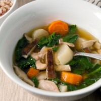Sesame and Ginger Chicken Soup